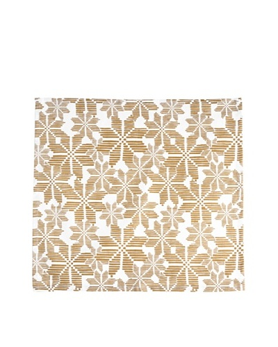 Shiraleah Set of 3 Assorted Snowflake Napkins, Gold