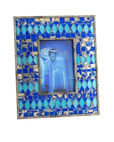 Shiraleah Ben Cobalt Mosaic 4 x 6 Picture Frame