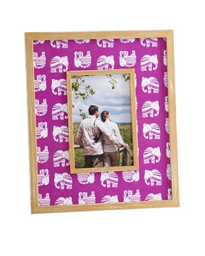 """Shiraleah Elephant 4"""" x 6"""" Picture Frame, Pink"""