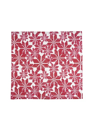 Shiraleah Set of 3 Assorted Snowflake Napkins, Red