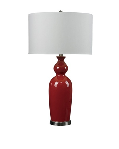 HGTV Home Red Ceramic Table Lamp