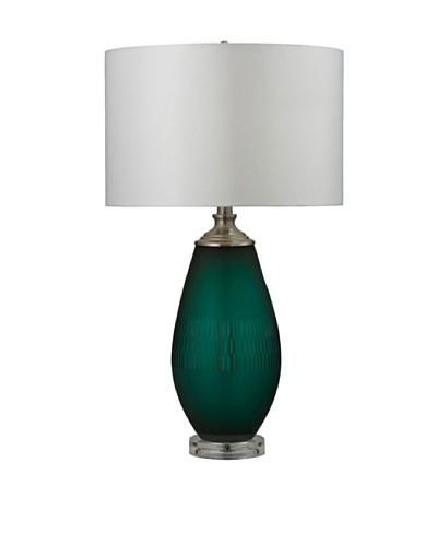HGTV Home Jade Green Mouth Blown Table Lamp