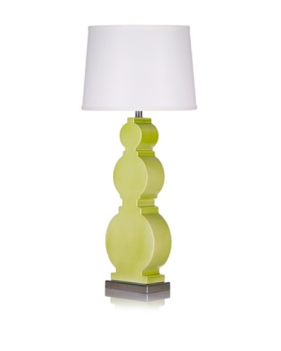 Krush Bel Table Lamp, Satin Chartreuse Ceramic