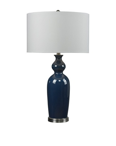HGTV Home Blue Ceramic Table Lamp