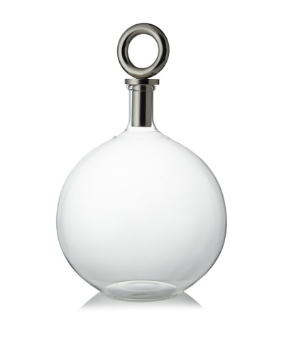 Sidney Marcus Mouth-Blown Glass Decanter, RIng Top