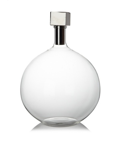 Sidney Marcus Mouth-Blown Glass Decanter, Cube Top