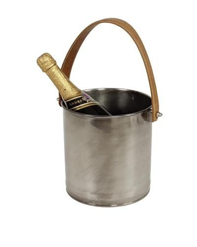 Sidney Marcus Plantation Brass Wine Cooler, Matte Pewter