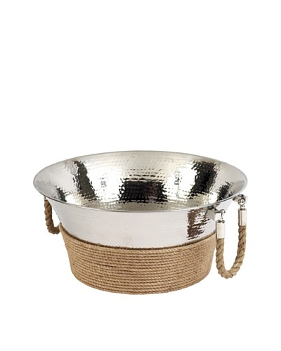 Sidney Marcus Marina Stainless Steel Chiller Tub with Rope Handles, Polished