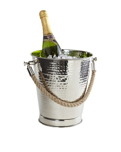 Sidney Marcus Marina Stainless Steel Chiller Bucket with Rope Handles, Polished