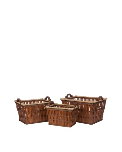 Skalny Set of 3 Rectangular Bamboo Storage