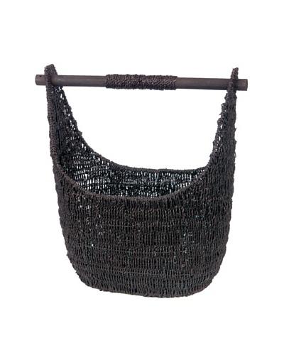 Skalny Oblong Seagrass Storage Basket, Large, Dark Brown