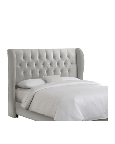 Skyline Tufted Wingback Velvet Headboard