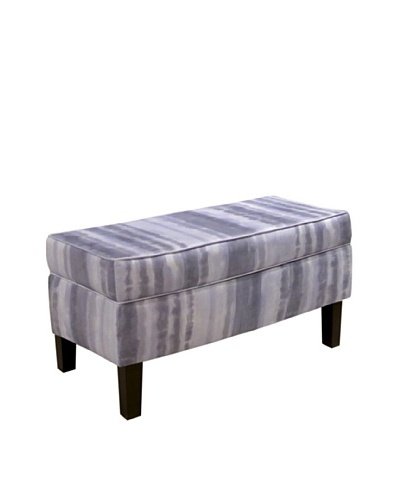 Skyline Storage Bench, Stream Pearl