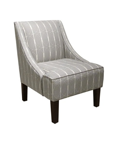 Skyline Swoop Arm Chair, Menton Linen