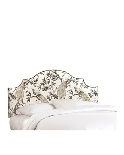 Skyline Nailhead Stud-Accented Notched Headboard