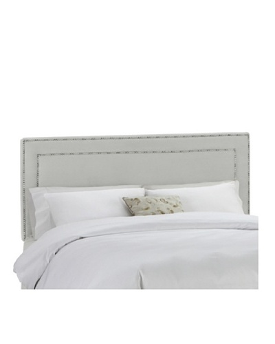 Skyline Pewter Nail Button Border Headboard
