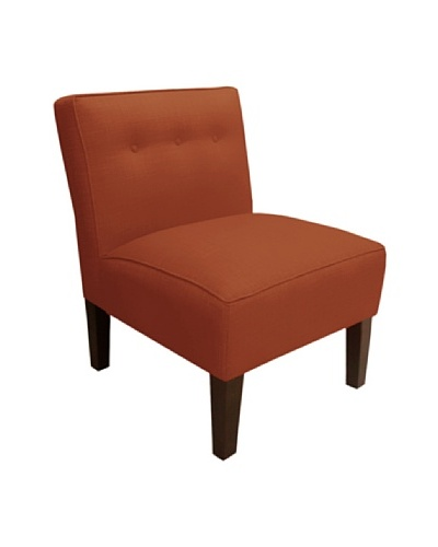 Skyline Armless Chair with Buttons, Patriot Tangerine