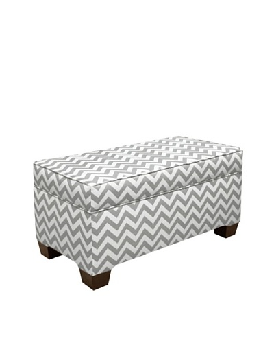 Skyline Storage Bench, Zig Zag Ash/WhiteAs You See