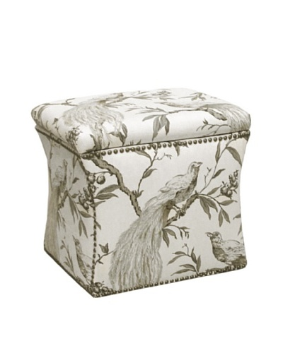 Skyline Nailhead Stud-Accented Storage Ottoman, Roberta Winter
