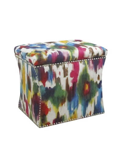 Skyline Nail Button Storage Ottoman