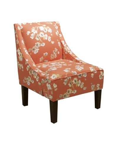 Skyline Swoop Arm Chair, Sakura Kumquat