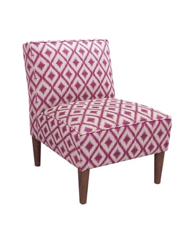 Skyline Armless Chair, Ikat Fret RaspberryAs You See
