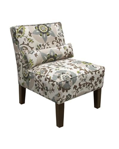 Skyline Armless Chair, Rhinestone