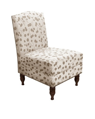 Skyline Nailhead Stud-Accented Armless Chair, Burnet Taupe