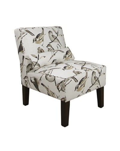 Skyline Armless Chair, Bird Watcher Charcoal