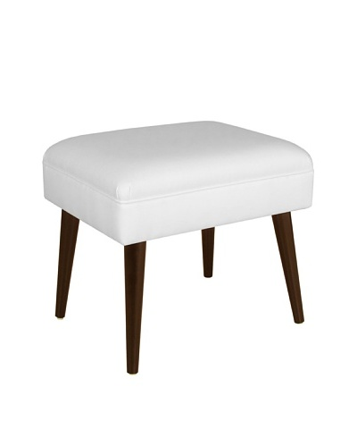 Skyline Furniture Ottoman with Cone Legs, Twill White