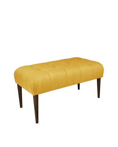 Skyline Furniture Button-Tufted Bench, French Yellow