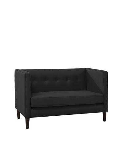 Skyline Furniture Five-Button Settee, Black