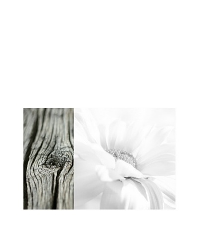 Art Addiction White Floral/Wood II
