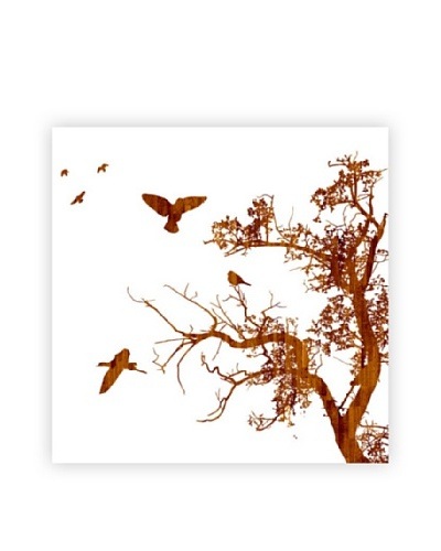 Art Addiction Tree/Birds, White II