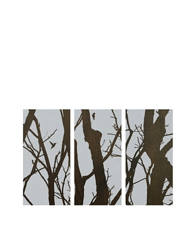 Art Addiction Branches/Birds, Grey, Triptych