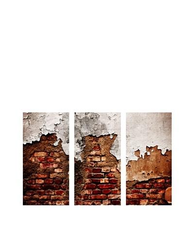 Art Addiction Brick Wall, Triptych