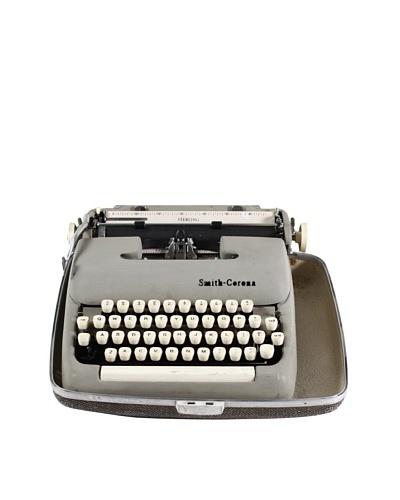 Smith Corona Vintage Typewriter, Grey