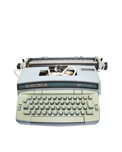 Smith Corona Vintage Typewriter, Light Blue/Green