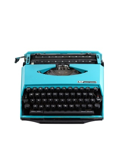 Smith Corona Vintage Typewriter, Turquoise