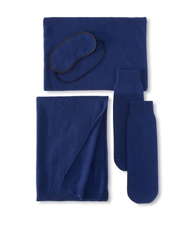 Sofia Cashmere Travel Set, Navy