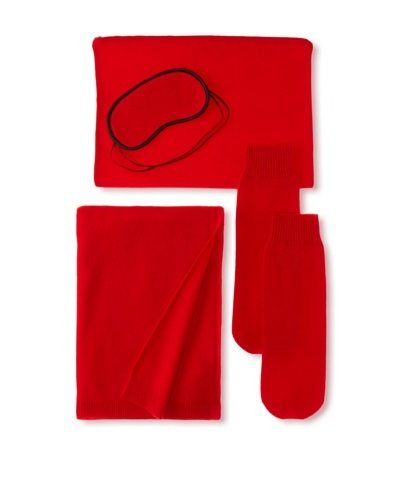 Sofia Cashmere Travel Set, Lipstick Red