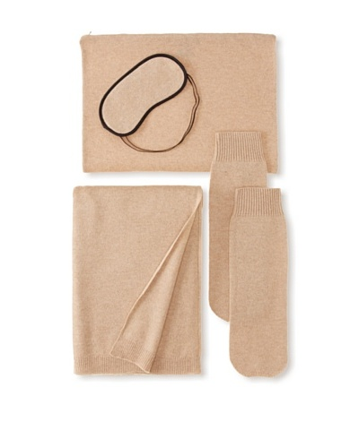 Sofia Cashmere Travel Set, Camel
