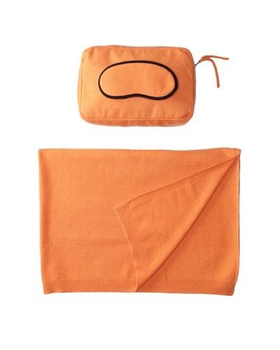 Sofia Cashmere Romagna Jersey Knit Travel Set, Tangerine