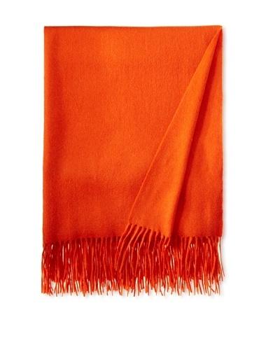 Sofia Cashmere Throw, Hermes Orange
