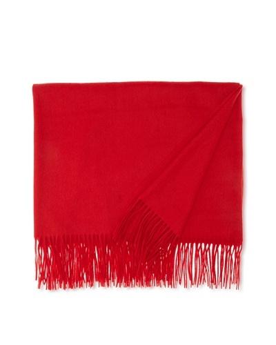 Sofia Cashmere Fringed Woven Throw, Cardinal, 55 x 65