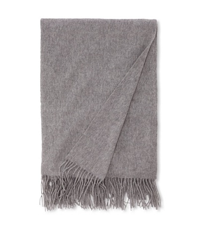 Sofia Cashmere Fringed Woven Throw, Heather Grey, 56 x 66