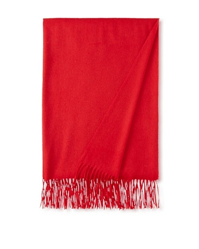 "Sofia Cashmere Fringe Throw, Deep Red, 58"" x 62"""