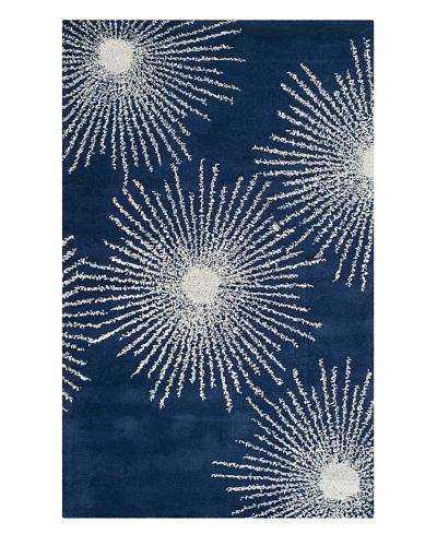 Soho Rugs Starburst Rug [Dark Blue/Ivory]