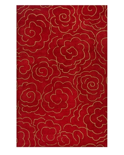 Soho Rugs Abstract Floral Rug [Red/Brown]