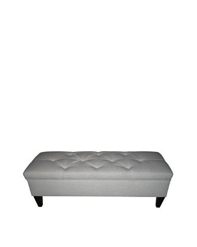 Sole Designs Brooke Tufted Diamond Loft Storage Bench, Magnolia